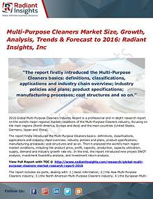 Multi-Purpose Cleaners Market  Size, Share & Growth by 2016