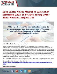 Data Center Power Market to Grow at an Estimated CAGR of 14.59%