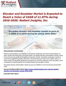 Elevator and Escalator Market is Expected to Reach a Value of CAGR