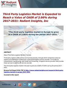 Third Party Logistics Market is Expected to Reach a Value of CAGR