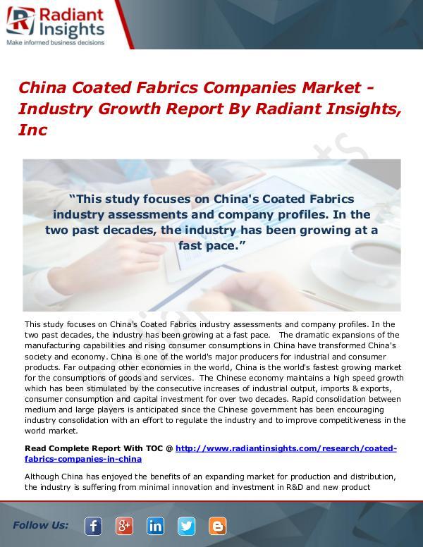 China Coated Fabrics Companies Market - Industry Growth Report China Coated Fabrics Companies Market