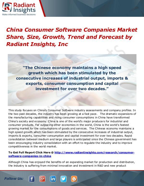 China Consumer Software Companies Market Share, Size, Growth, Trend China Consumer Software Companies Market