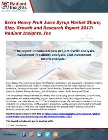 Extra Heavy Fruit Juice Syrup Market Share, Size, Growth 2017