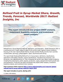 Refined fruit in syrup market trends, forecast, worldwide 2017