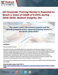 US Corporate Training Market is Expected to Reach a Value of CAGR
