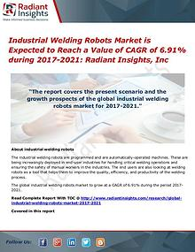 Industrial Welding Robots Market is Expected to Reach a Value of CAGR
