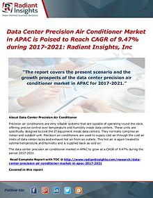 Data Center Precision Air Conditioner Market in APAC Data Center Precision Air Conditioner Market 2021