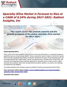 Specialty Silica Market is Forecast to Rise at a CAGR of 6.24%