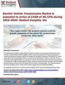 Electric Vehicle Transmission Market is Expected to Arrive at CAGR of