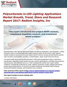 Polycarbonate in LED Lighting Applications Market Growth, Trend 2017