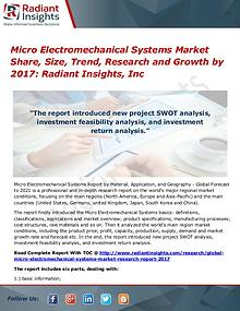 Micro Electromechanical Systems Market Share, Size, Trend 2017