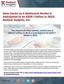 Data Center as A Bottleneck Market is Anticipated to be $359.7