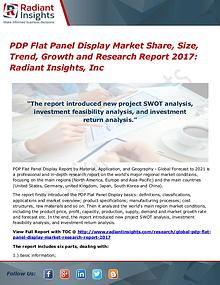 PDP Flat Panel Display Market Share, Size, Trend, Growth 2017