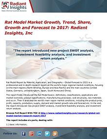 Rat Model Market Growth, Trend, Share, Growth and Forecast to 2017