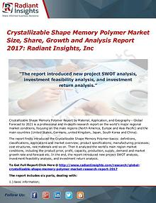 Crystallizable Shape Memory Polymer Market Size, Share, Growth 2017
