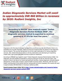 Indian Diagnostic Services Market Will Swell to Approximately INR 860
