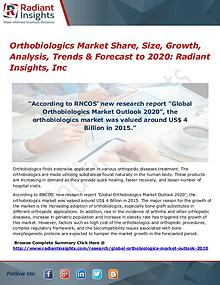 Orthobiologics Market Share, Size, Growth, Analysis, Trends 2017