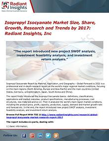 Isopropyl Isocyanate Market Size, Share, Growth, Research 2017