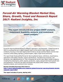 Forced-Air Warming Blanket Market Size, Share, Growth, Trend 2017