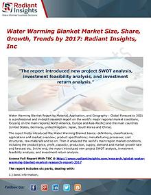 Water Warming Blanket Market Size, Share, Growth, Trends by 2017