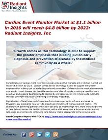 Cardiac Event Monitor Market will reach $4.8 billion by 2023