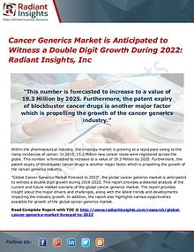 Cancer Generics Market 2022