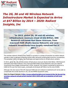 The 2G, 3G and 4G Wireless Network Infrastructure Market 2020
