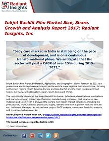 Inkjet Backlit Film Market Size, Share, Growth 2017