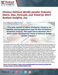 Chinese Hafnium Boride Powder Industry Share, Size, Forecast 2017