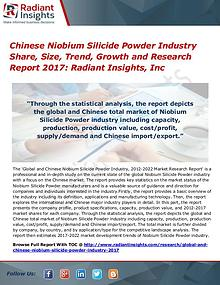 Chinese Niobium Silicide Powder Industry Share, Size, Trend 2017