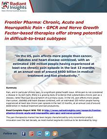 Frontier Pharma Chronic, Acute and Neuropathic Pain