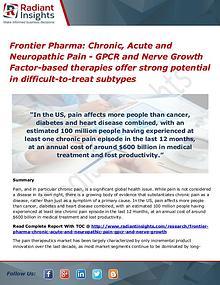 Frontier Pharma Chronic, Acute and Neuropathic Pain