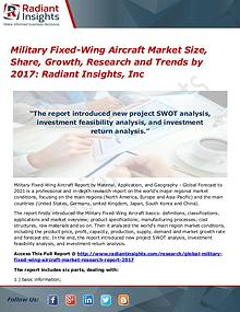 Military Fixed-Wing Aircraft Market Size, Share, Growth 2017