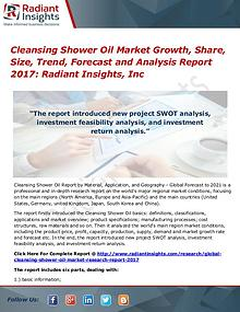 Cleansing Shower Oil Market Growth, Share, Size, Trend, Forecast 2017