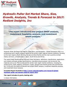 Hydraulic Puller Set Market Share, Size, Growth, Analysis, Trend 2017