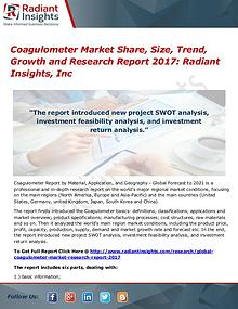 Coagulometer Market Share, Size, Trend, Growth and Research 2017