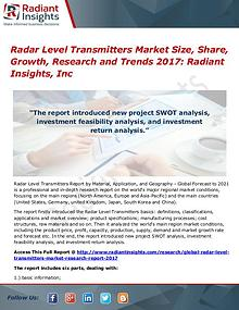 Radar Level Transmitters Market Size, Share, Growth, Research 2017