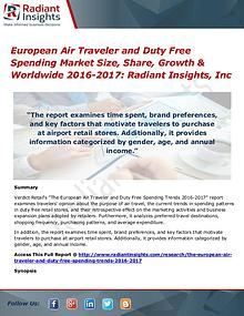 European Air Traveler and Duty Free Spending Market Size, Share 2017