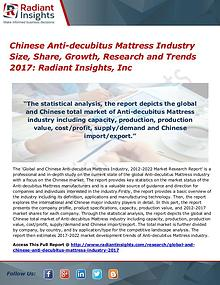 Chinese Anti-Decubitus Mattress Industry Size, Share, Growth 2017
