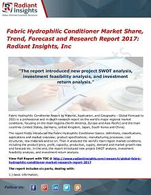 Fabric Hydrophilic Conditioner Market Share, Trend, Forecast 2017