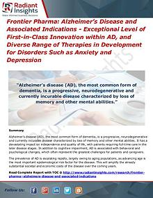 Frontier Pharma Alzheimer's Disease and Associated Indications