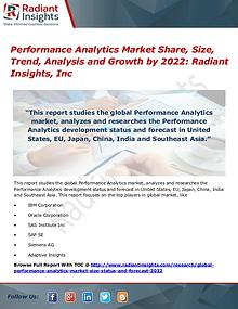 Performance Analytics Market Share, Size, Trend, Analysis 2022