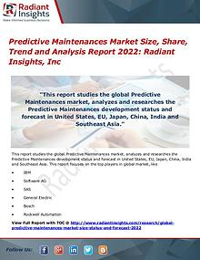 Predictive Maintenances Market Size, Share, Trend 2022