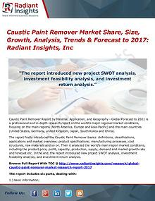 Caustic Paint Remover Market Share, Size, Growth, Analysis 2017