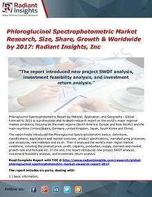 Phloroglucinol Spectrophotometric Market Research, Size, Share 2017