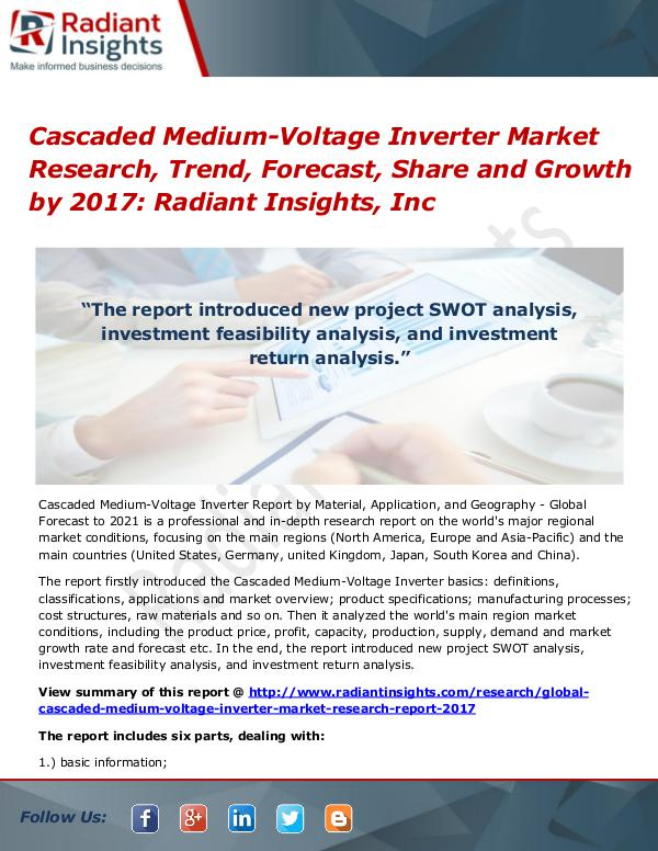 Cascaded Medium-Voltage Inverter Market Research, Trend 2017 Cascaded Medium-Voltage Inverter Market 2017