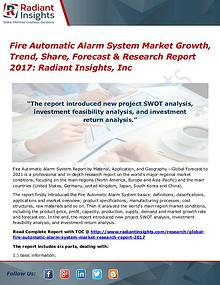Fire Automatic Alarm System Market Growth, Trend, Share 2017