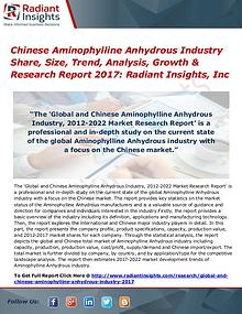 Chinese Aminophylline Anhydrous Industry Share, Size, Trend 2017