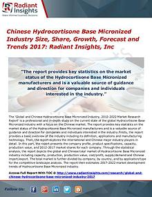 Chinese Hydrocortisone Base Micronized Industry Size, Share 2017