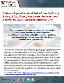 Chinese Pipemidic Acid Anhydrous Industry Share, Size, Trend 2017